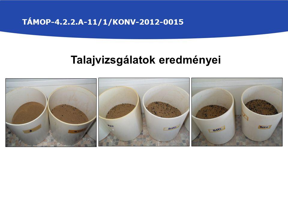 TÁMOP-4.2.2.A-11/1/KONV-2012-0015 Talajvizsgálatok eredményei
