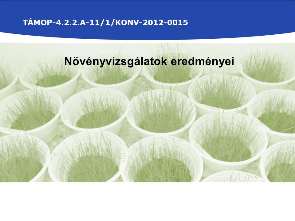 TÁMOP-4.2.2.A-11/1/KONV-2012-0015 Növényvizsgálatok eredményei