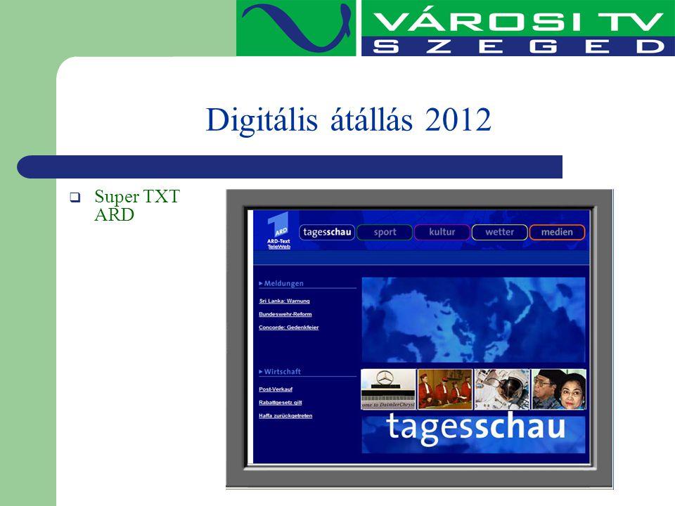 Digitális átállás 2012  Super TXT ARD