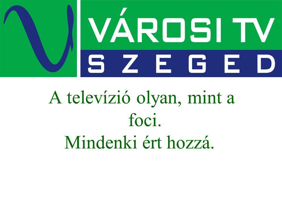 A televízió olyan, mint a foci. Mindenki ért hozzá.