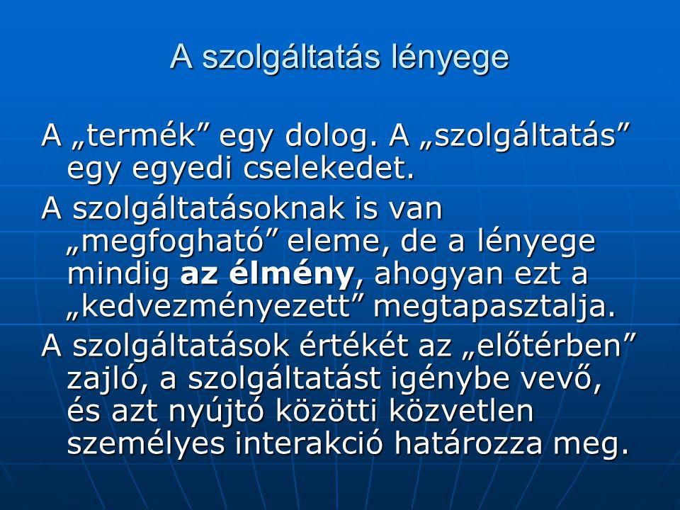 A SZOLGÁLTATÁS MINŐSÉGÉNEK DIMENZIÓI 3.