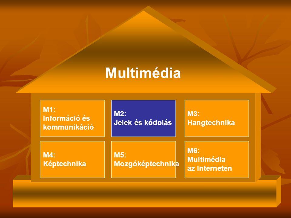 Multimédia M1: Információ és kommunikáció M2: Jelek és kódolás M3: Hangtechnika M4: Képtechnika M6: Multimédia az Interneten M5: Mozgóképtechnika