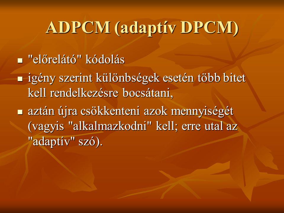 ADPCM (adaptív DPCM)