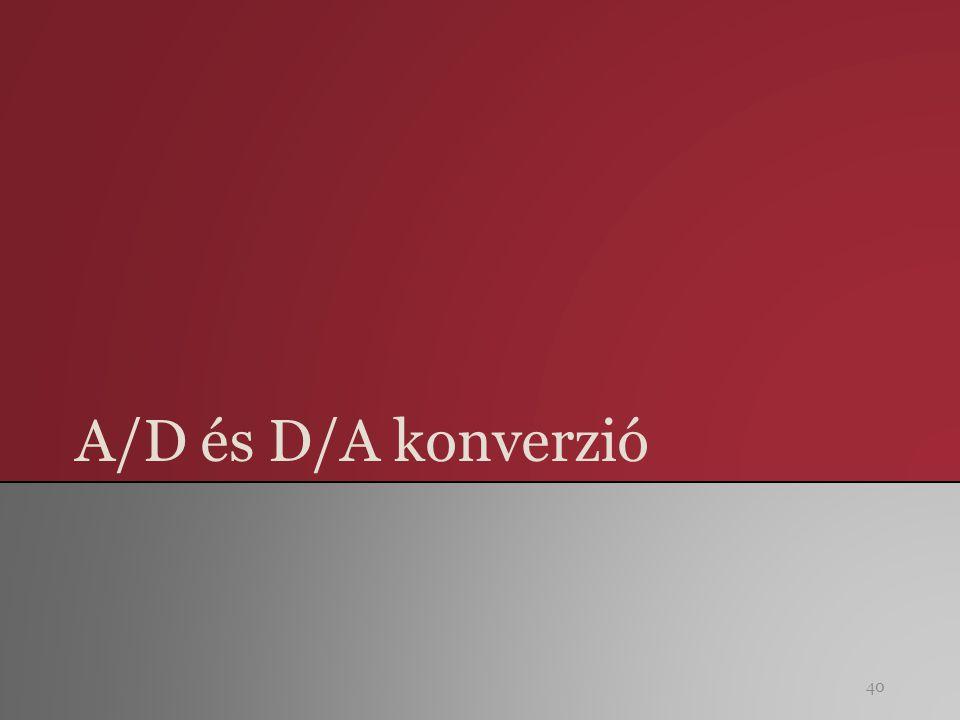 A/D és D/A konverzió 40