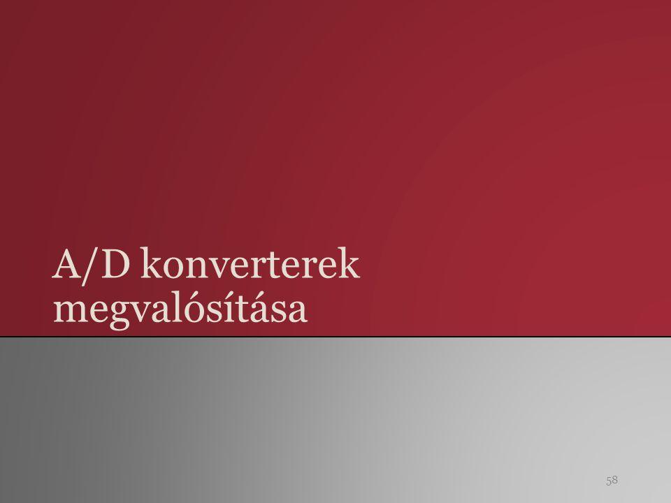 A/D konverterek megvalósítása 58