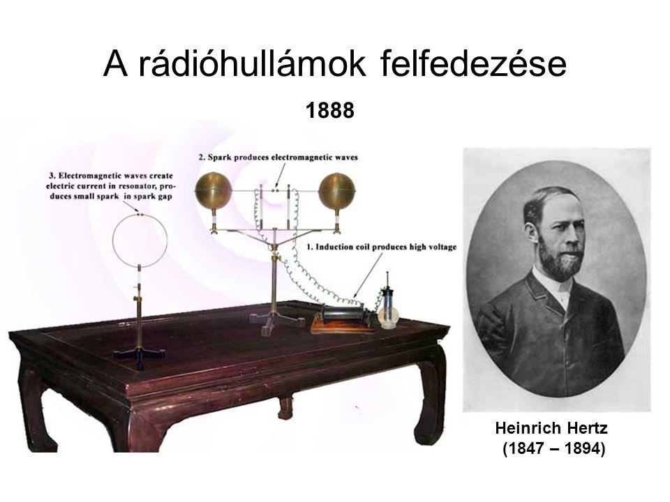 A rádióhullámok felfedezése Heinrich Hertz (1847 – 1894) 1888