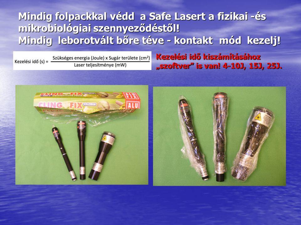 Safe Laser 30-as alkalmazása: SL 30-as 3 cm mélyre hatol Lyme-kór mellékterápia is.