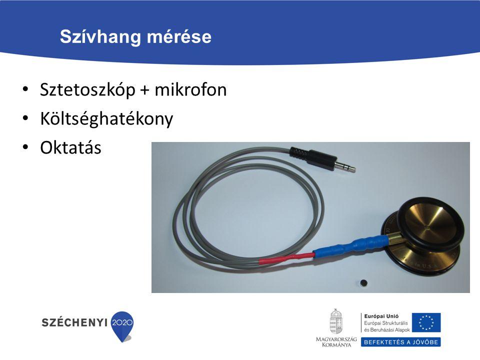 Szívhang mérése Sztetoszkóp + mikrofon Költséghatékony Oktatás