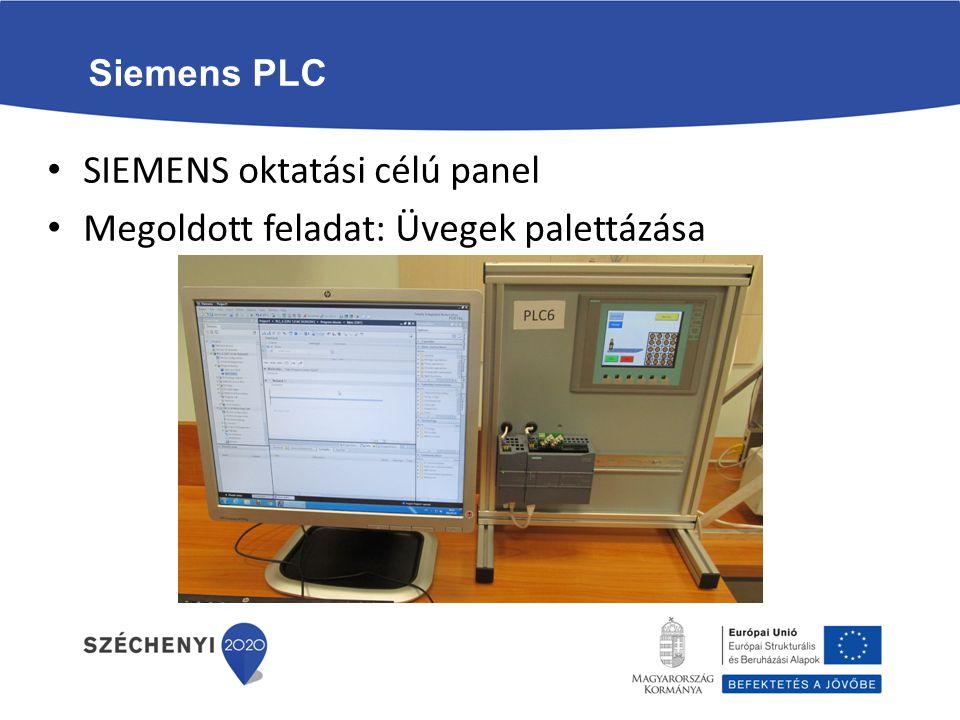 Siemens PLC SIEMENS oktatási célú panel Megoldott feladat: Üvegek palettázása