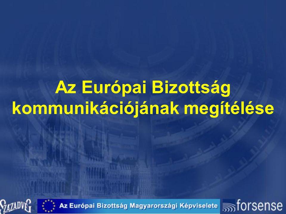 Az Európai Bizottság kommunikációjának megítélése