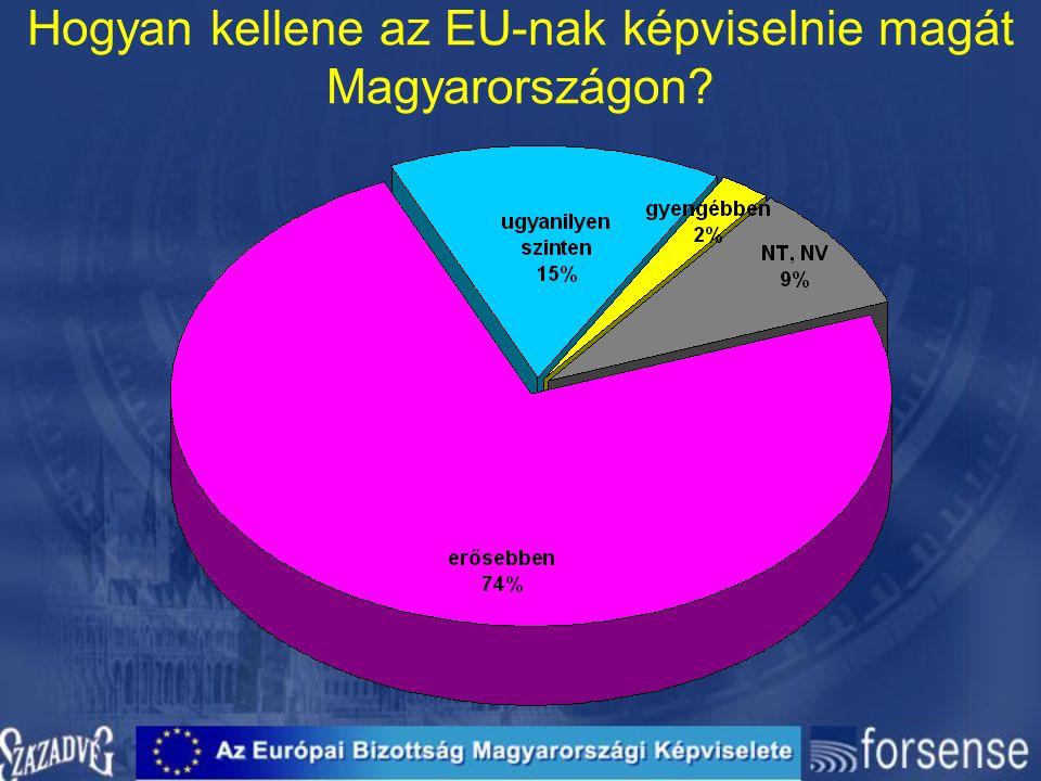 Hogyan kellene az EU-nak képviselnie magát Magyarországon?