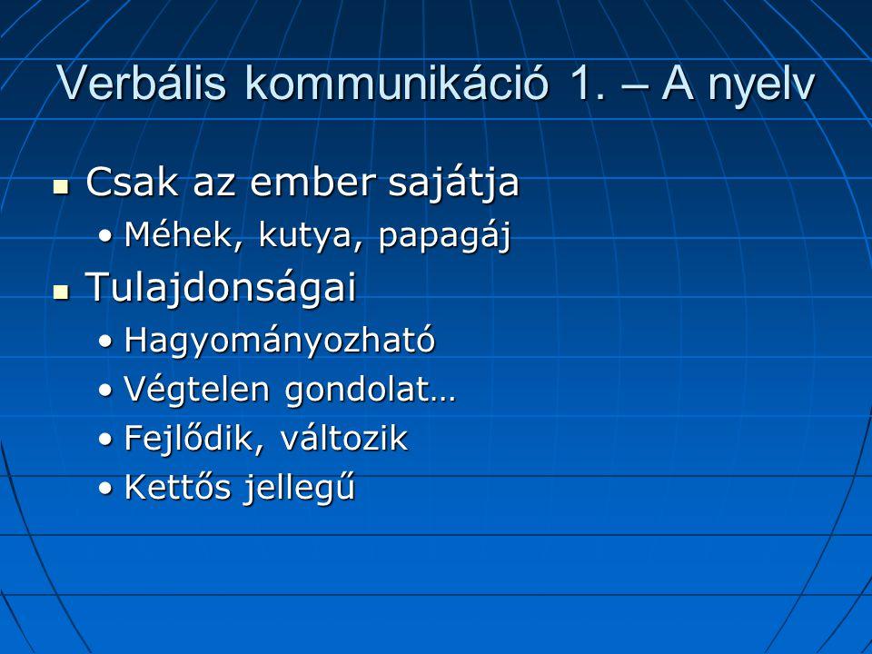 Verbális kommunikáció 1.