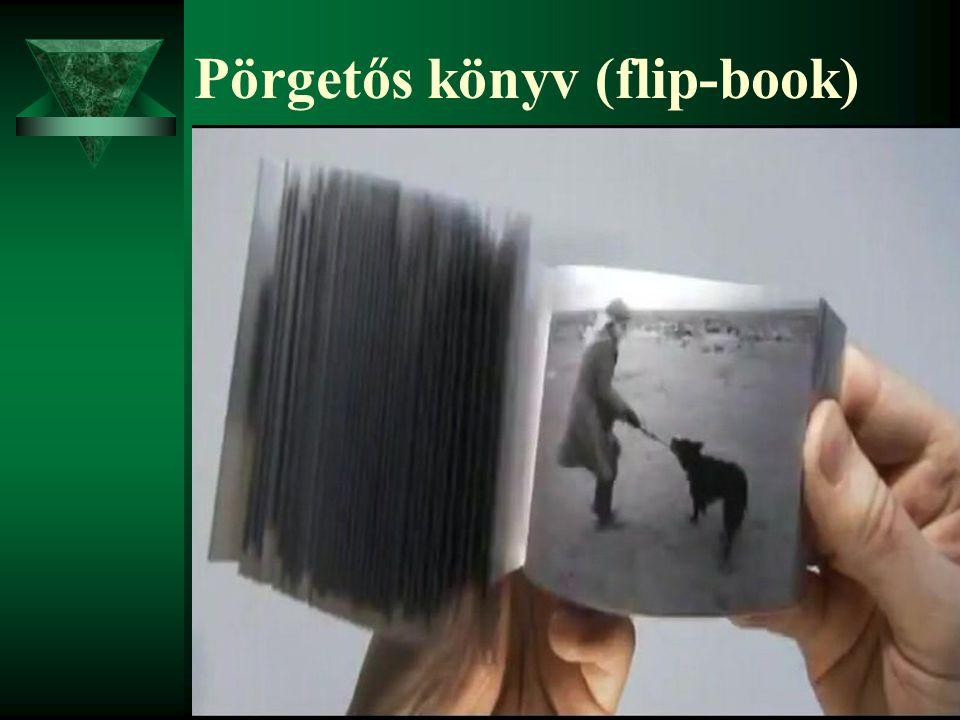 Pörgetős könyv (flip-book)