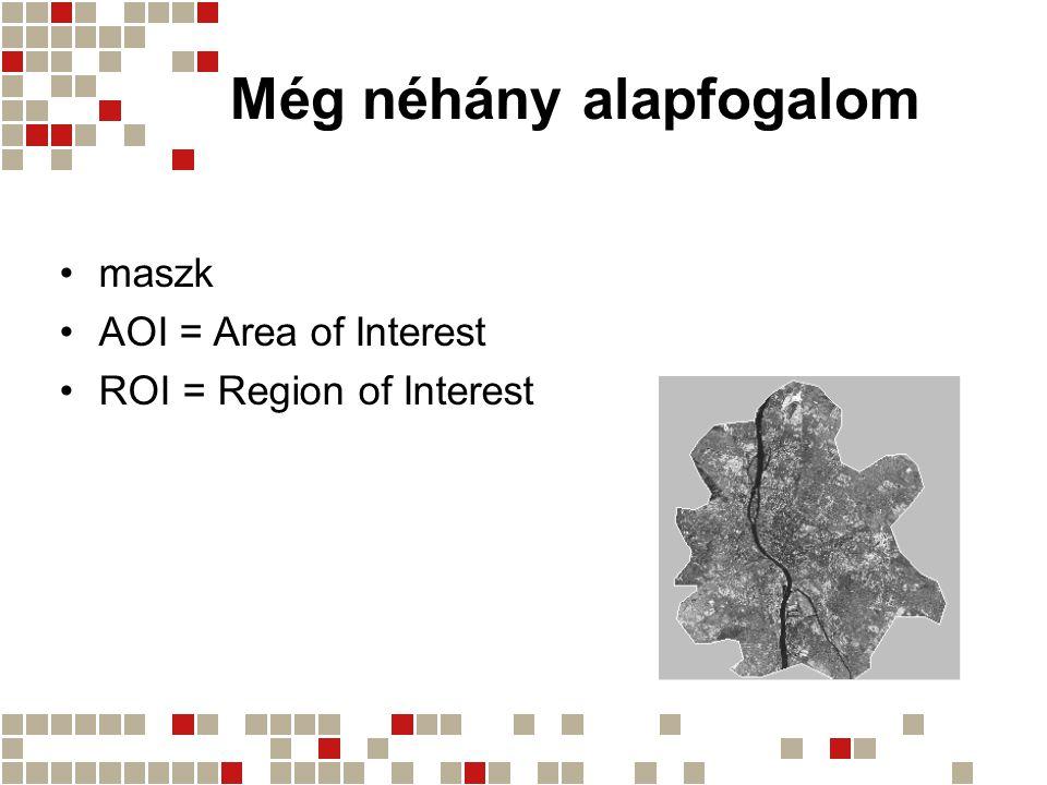 Még néhány alapfogalom maszk AOI = Area of Interest ROI = Region of Interest