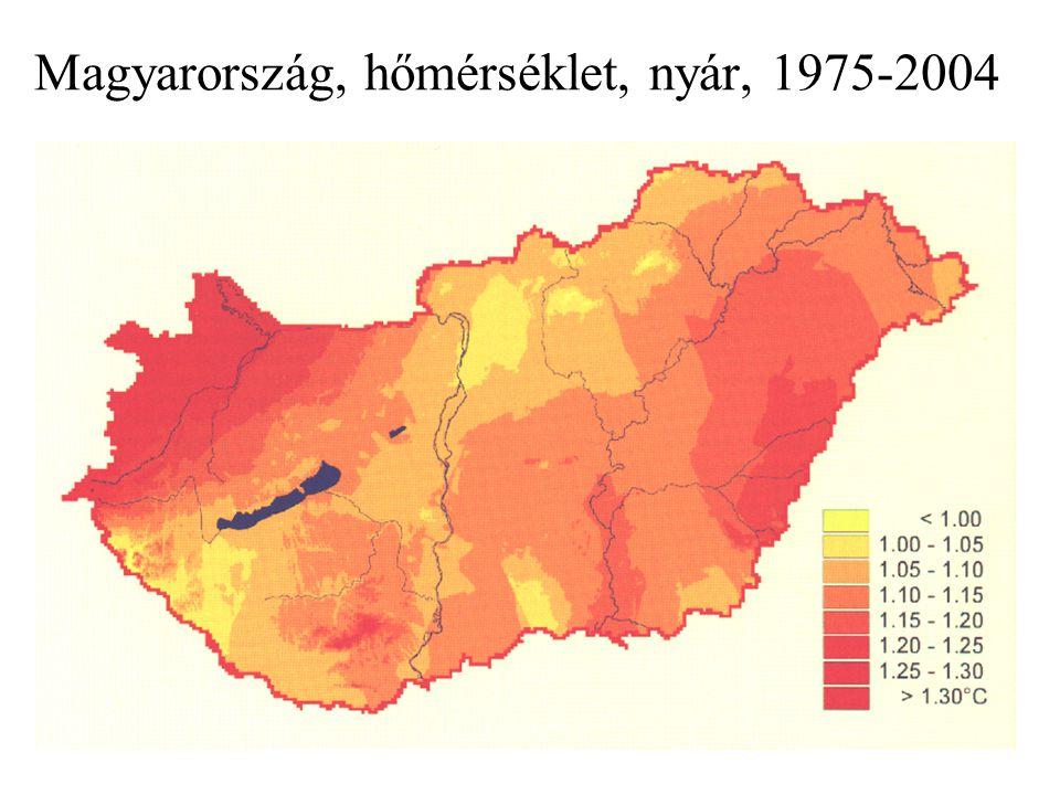 14 Magyarország, csapadék, 1951-2004 (forrás: OMSZ)