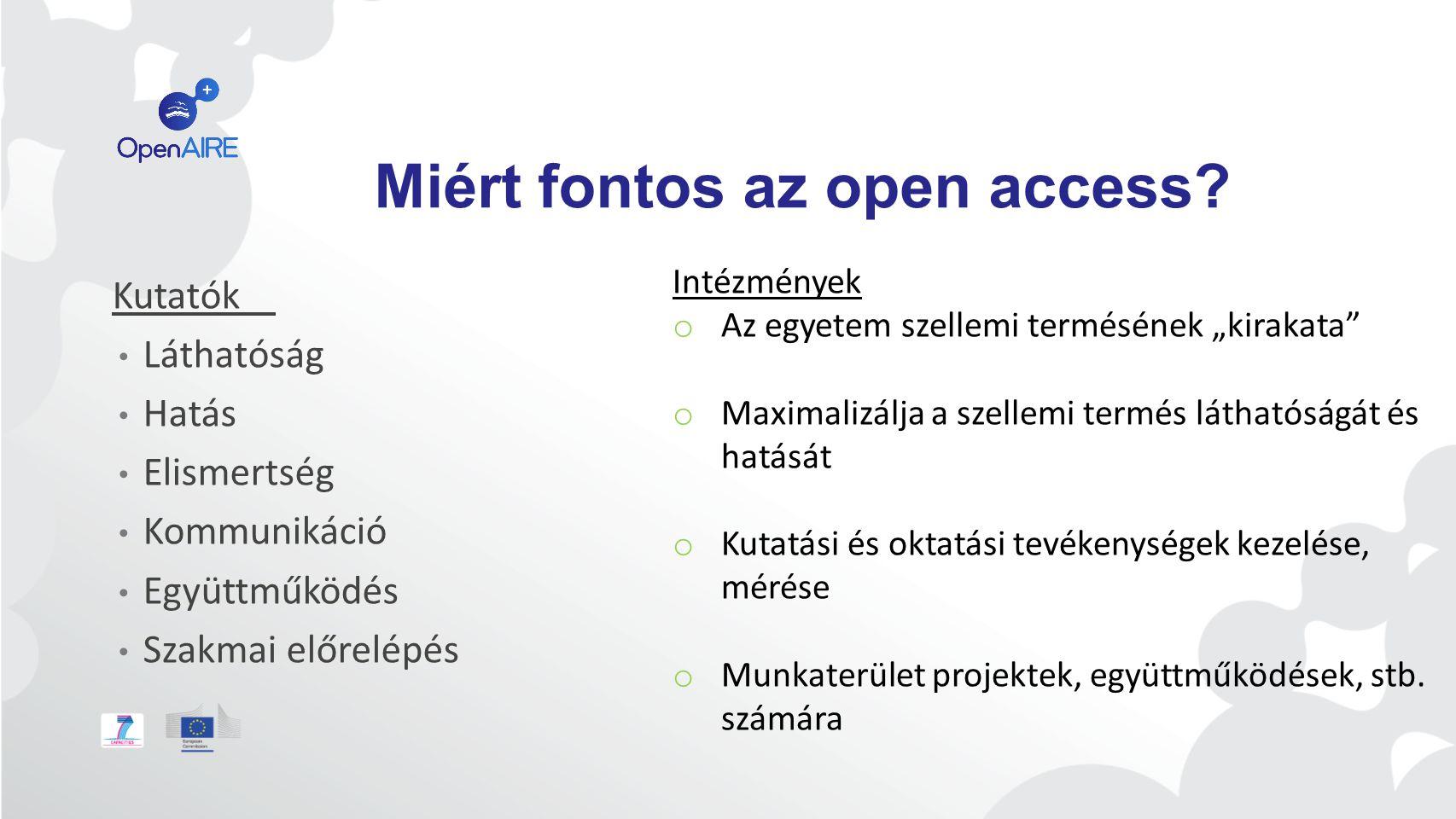 Miért fontos az open access.