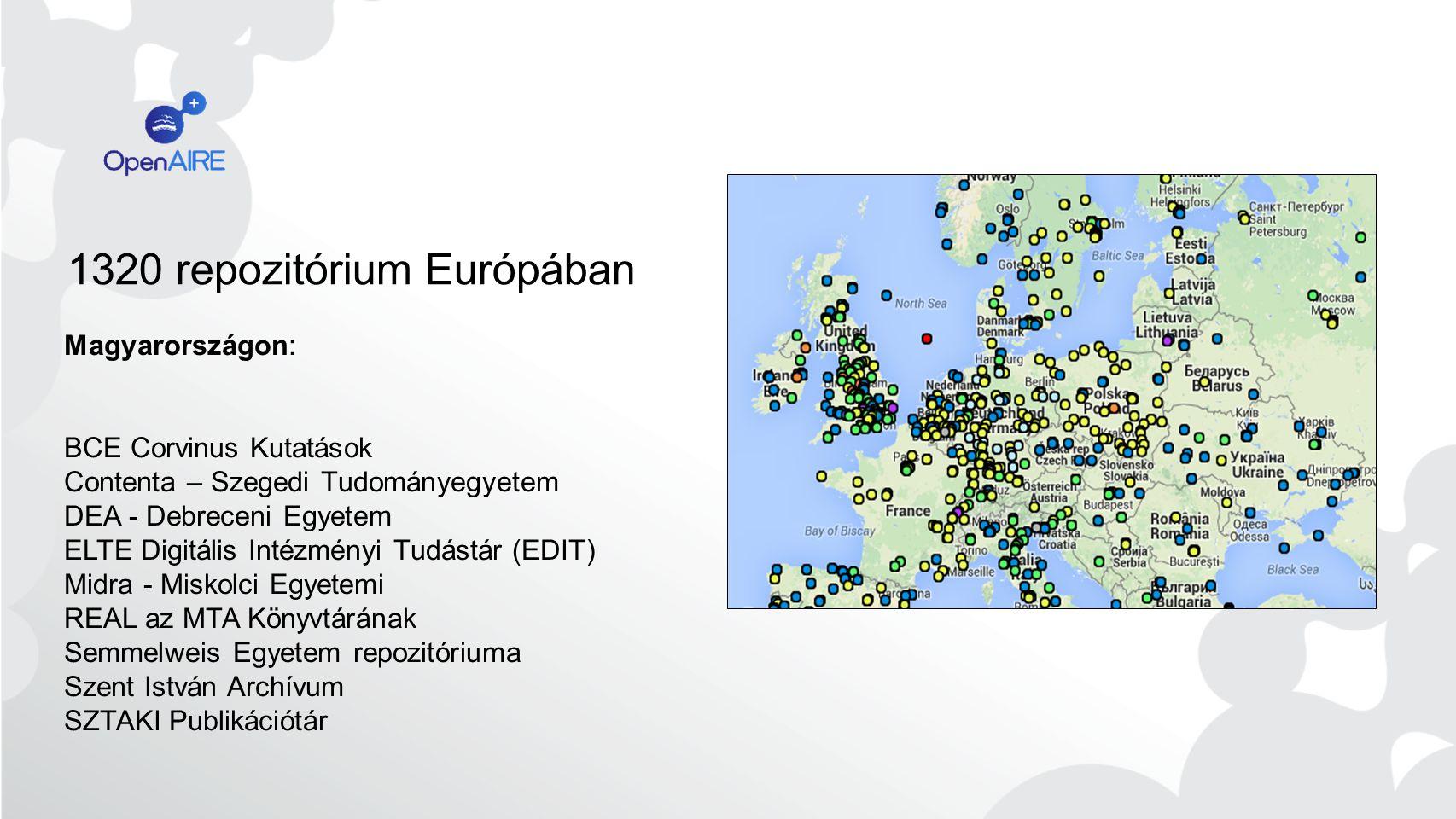 OpenAIRE2020 2015 január 42 hónap 50 partner 33 Nemzeti open access helpdesk pontok 7 Technikai partner 12 Tudományos szervezet 3 Adatközösség 3 Jogi szakértő Több projektet magában foglaló program OpenAIRE2020 - Overview20 CNR, ARC, UNIBI, ICM, UBONN, CERN, UoA EBI, Pangea, DANS UvA, UGOE, ICM UGOE, UMINHO, UGENT, CRIStin, eIFL, LIBER, JISC, COUPERIN, SURF, UCL, COAR, CLARA