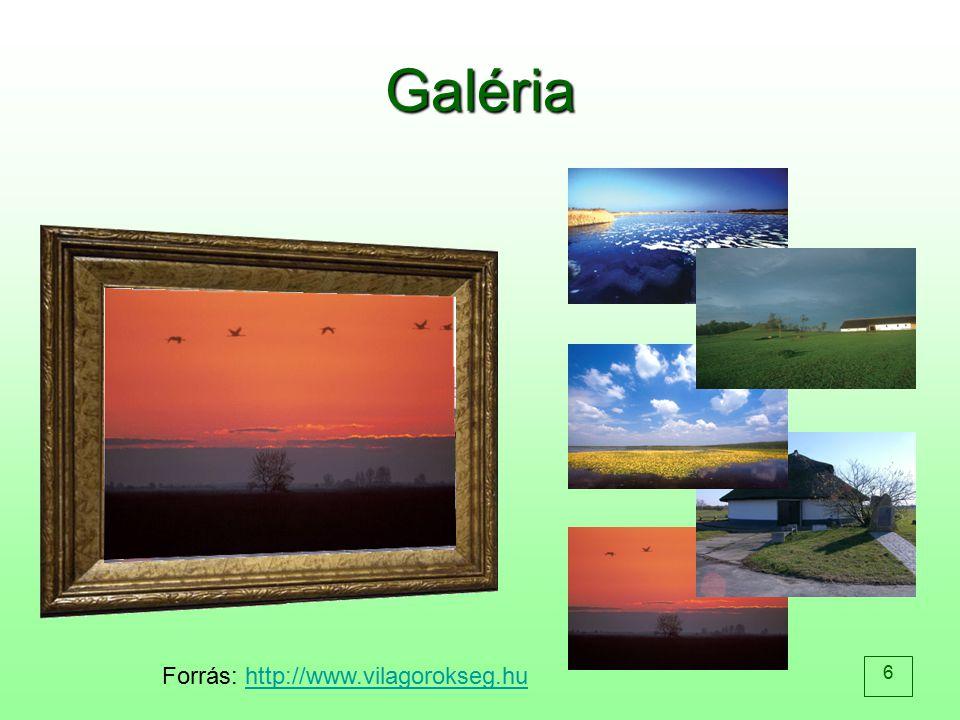 6 Galéria Forrás: http://www.vilagorokseg.huhttp://www.vilagorokseg.hu