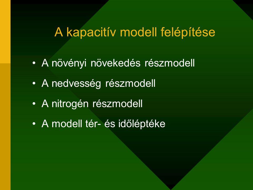 A növényi növekedés almodell A növényi növekedést leíró differenciálegyenlet: ahol:x = a növényi biomassza mennyisége, a = a növekedés sebességtényezője.