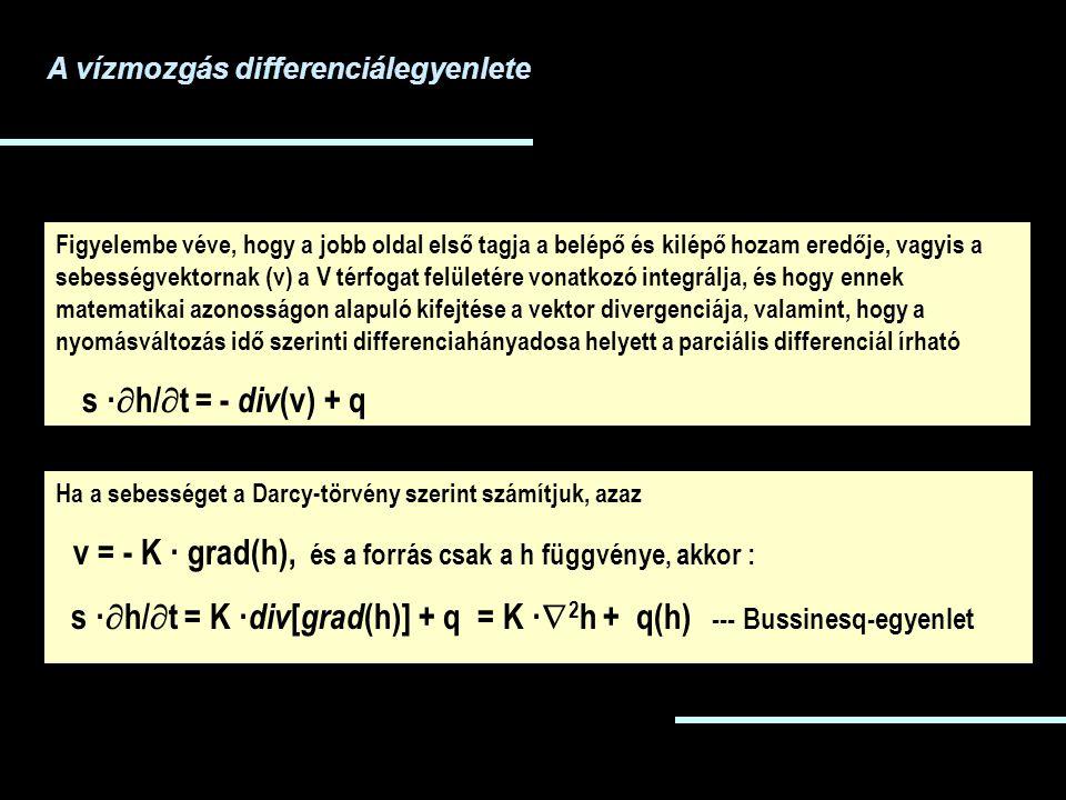 Figyelembe véve, hogy a jobb oldal első tagja a belépő és kilépő hozam eredője, vagyis a sebességvektornak (v) a V térfogat felületére vonatkozó integ
