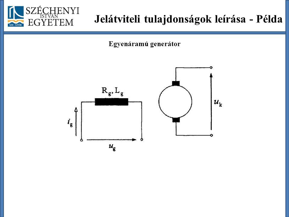 Jelátviteli tulajdonságok leírása - Példa Egyenáramú generátor
