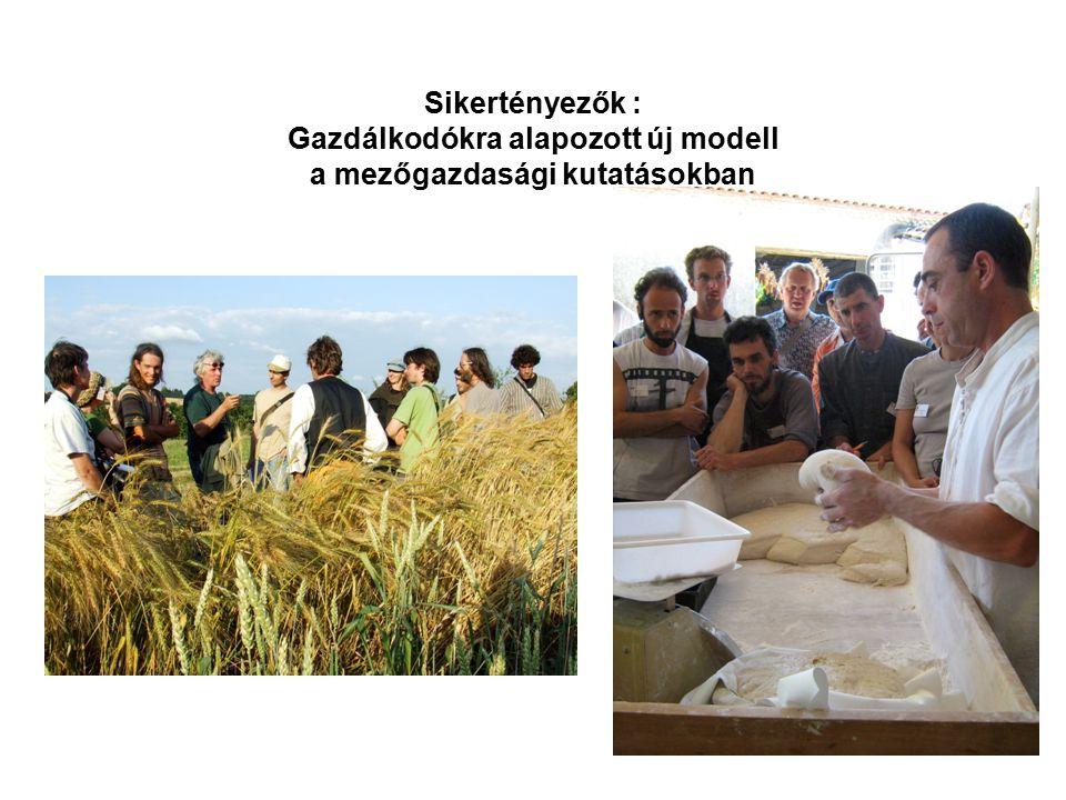 Sikertényezők : Gazdálkodókra alapozott új modell a mezőgazdasági kutatásokban