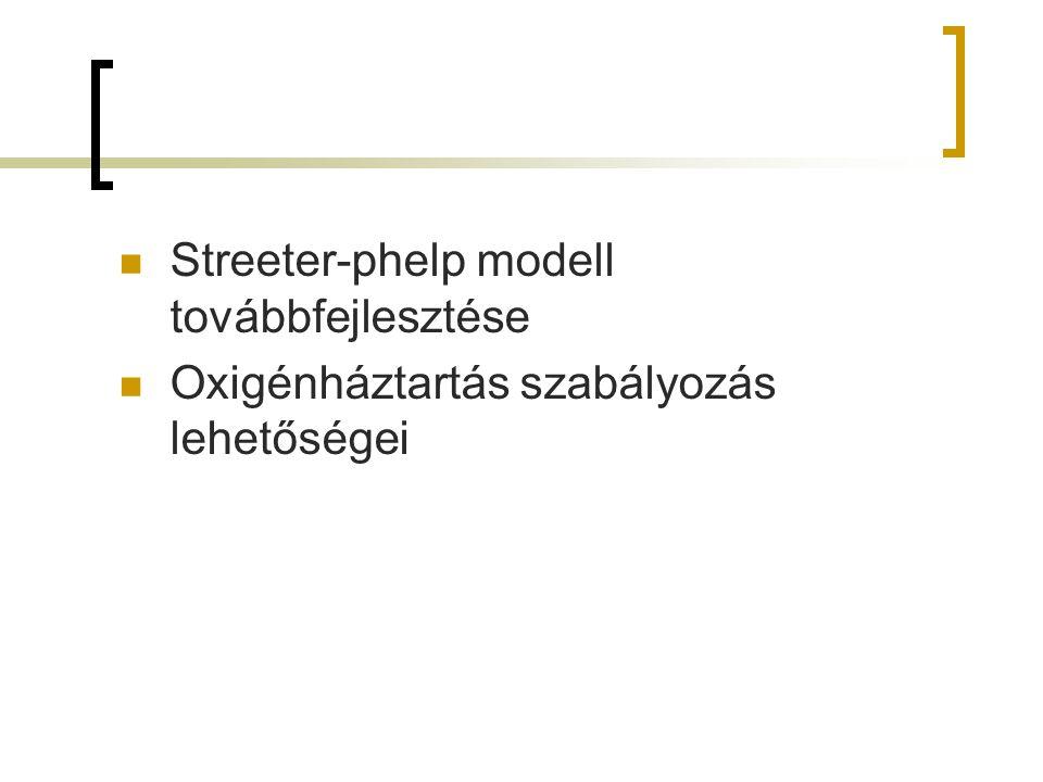 Streeter-phelp modell továbbfejlesztése Oxigénháztartás szabályozás lehetőségei
