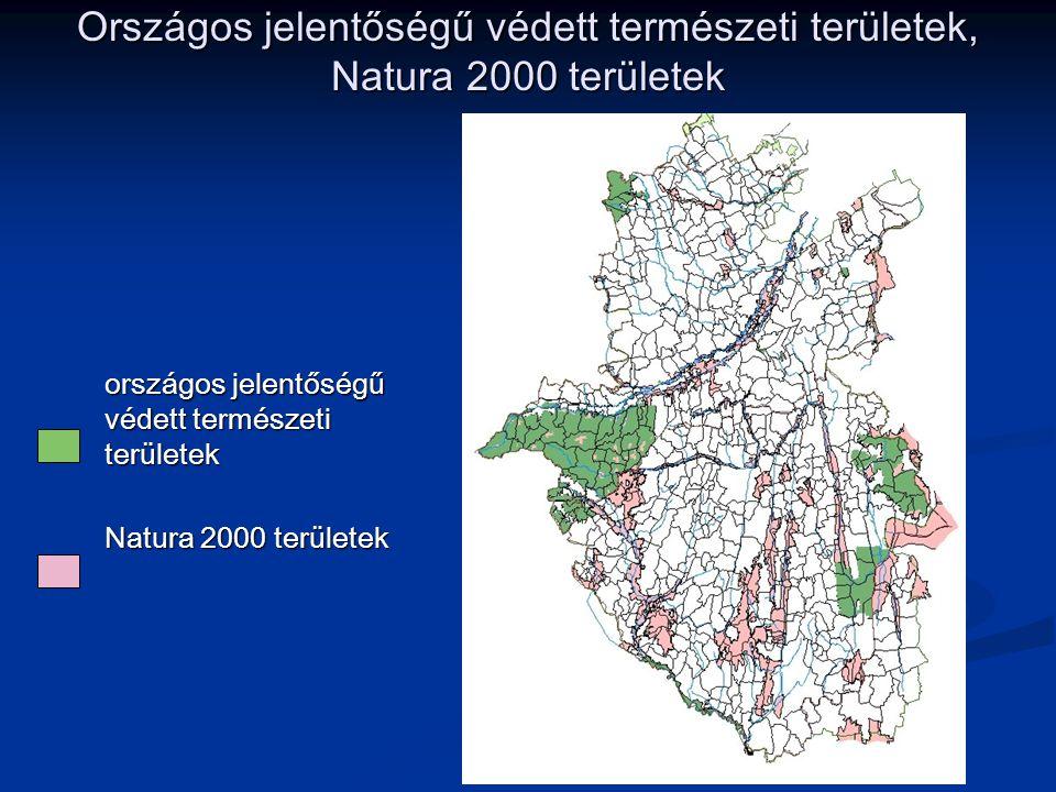 Országos jelentőségű védett természeti területek, Natura 2000 területek országos jelentőségű védett természeti területek Natura 2000 területek
