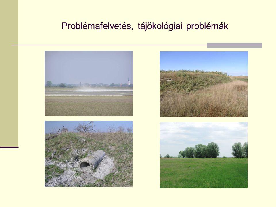 Problémafelvetés, tájökológiai problémák
