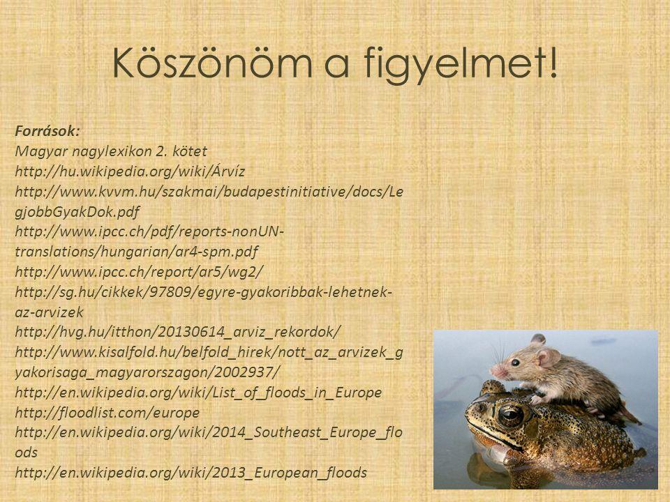 Köszönöm a figyelmet.Források: Magyar nagylexikon 2.