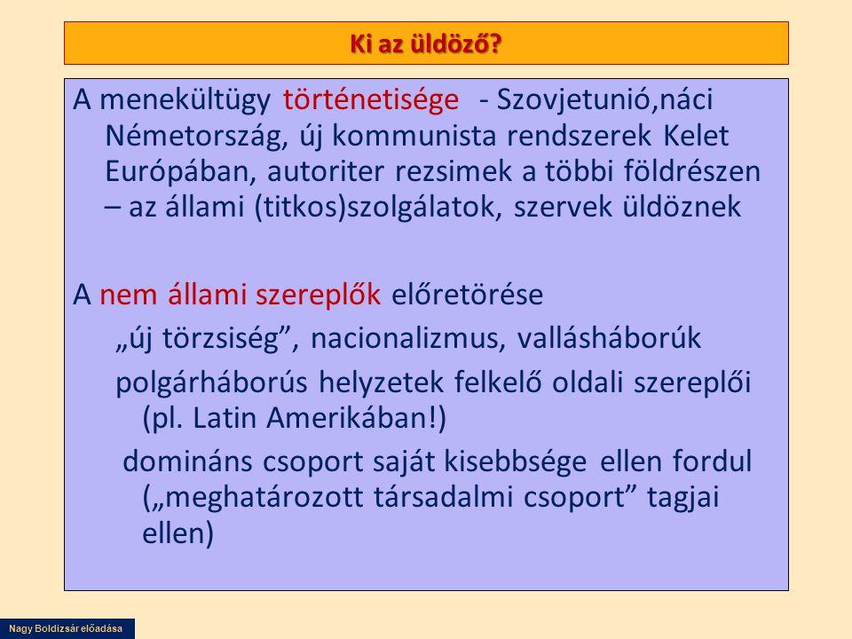 Nagy Boldizsár előadása Ki az üldöző? A menekültügy történetisége - Szovjetunió,náci Németország, új kommunista rendszerek Kelet Európában, autoriter