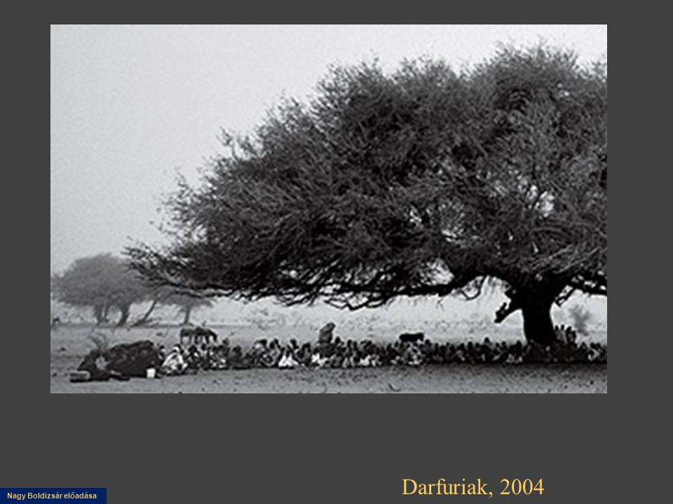 Nagy Boldizsár előadása Darfuriak, 2004