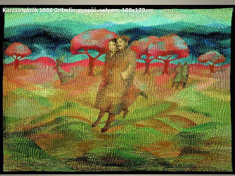 Korcsolyázók 1986 Gobelin, gyapjú, selyem, 100x170 cm 13