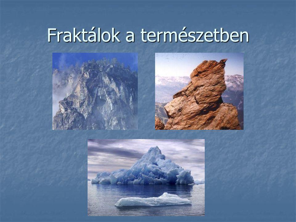 Felhasznált szakirodalom http://www.lelekzet.hu/k/8/40 http://www.lelekzet.hu/k/8/40 http://www.lelekzet.hu/k/8/40 http://hu.wikipedia.org/wiki/Mandelbrot-halmaz http://hu.wikipedia.org/wiki/Mandelbrot-halmaz http://hu.wikipedia.org/wiki/Mandelbrot-halmaz http://www.raingarden.hu/node/37 http://www.raingarden.hu/node/37 http://www.raingarden.hu/node/37 http://www.math.u- szeged.hu/~madera/elmat/bead/fraktal.pdf http://www.math.u- szeged.hu/~madera/elmat/bead/fraktal.pdf http://www.math.u- szeged.hu/~madera/elmat/bead/fraktal.pdf http://www.math.u- szeged.hu/~madera/elmat/bead/fraktal.pdf http://www.hexium.hu/04_Downloads/20_Public ations/DigVid2.pdf http://www.hexium.hu/04_Downloads/20_Public ations/DigVid2.pdf http://www.hexium.hu/04_Downloads/20_Public ations/DigVid2.pdf http://www.hexium.hu/04_Downloads/20_Public ations/DigVid2.pdf http://www.t-es-t.hu/minden/kaosz.htm http://www.t-es-t.hu/minden/kaosz.htm http://www.t-es-t.hu/minden/kaosz.htm