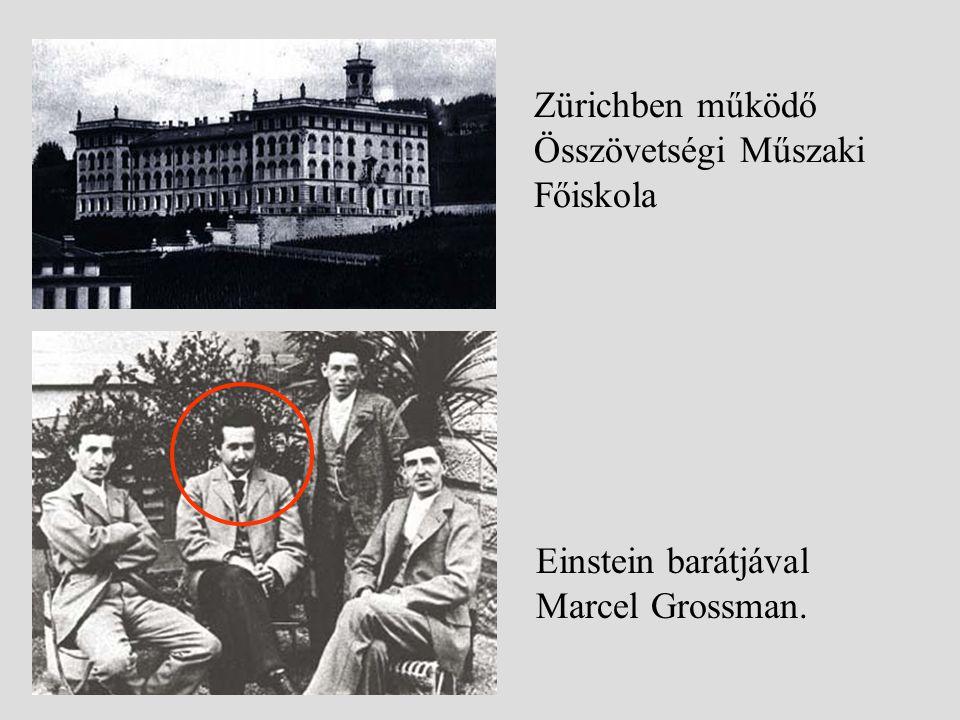 Zürichben működő Összövetségi Műszaki Főiskola Einstein barátjával Marcel Grossman.