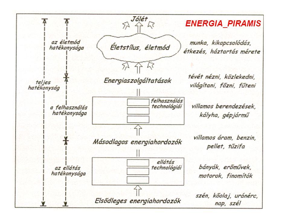 Energiafelhasználás trendje 1900-2000 http://epa.oszk.hu/00700/00775/00009/1999_09_08.html 1999/91999/9 Magyar Tudomány Technológiapolitik Energiaigények