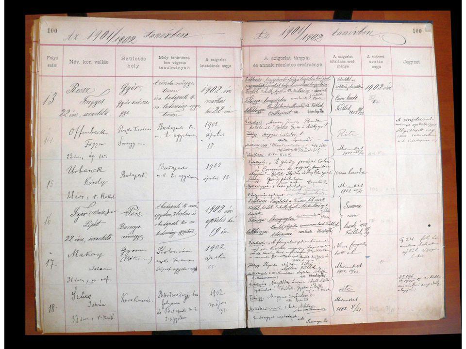 A Magyar Tudományos Akadémia Marczibányi-mellékjutalom odaítéltetése: az 1904.
