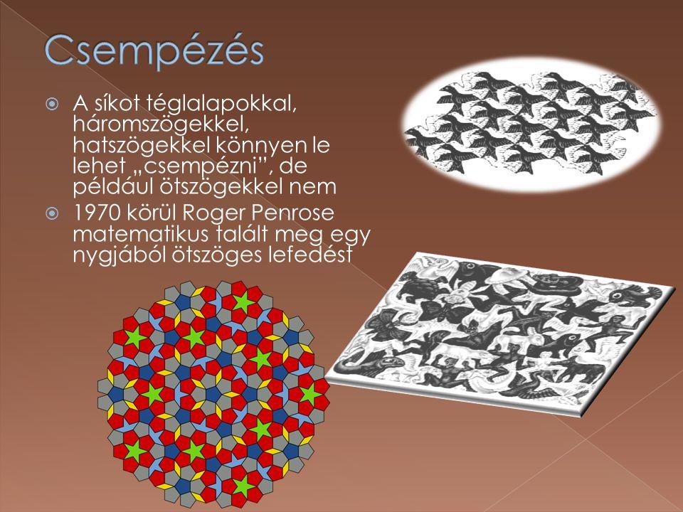  A 2 dimenziós képből kijönnek a 3 dimenziós alakzatok  … de igazából az egész rajz is csak 2 dimenziós!