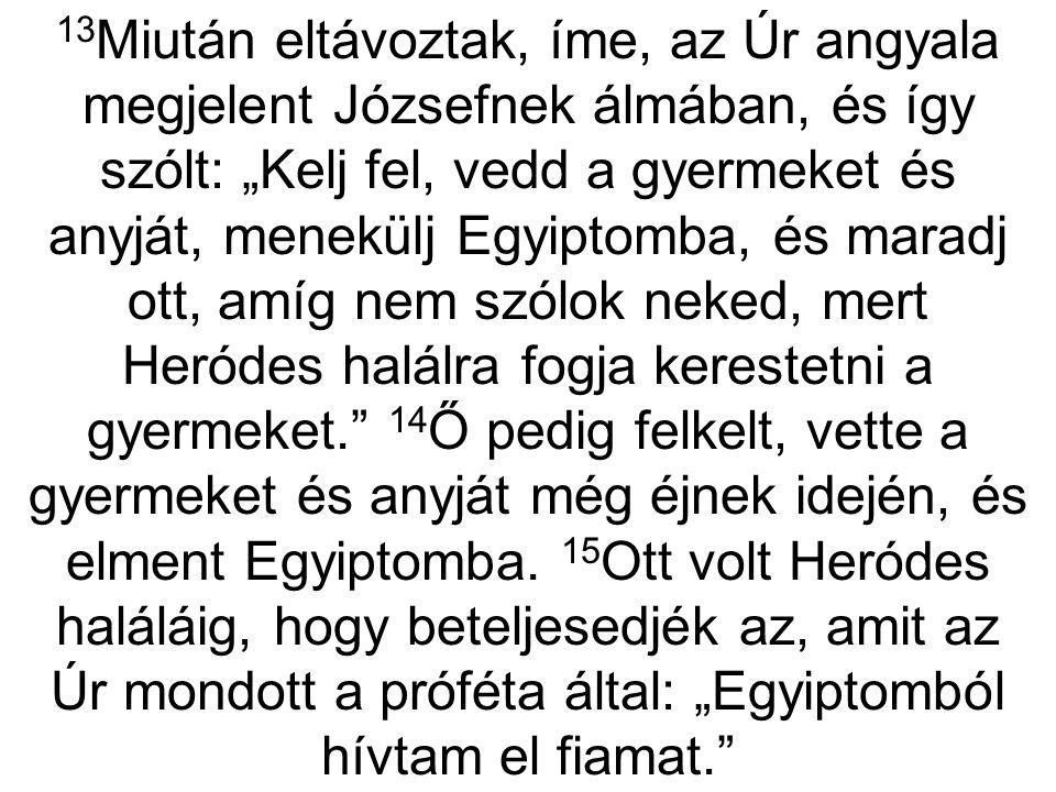 Menekülj Egyiptomba.