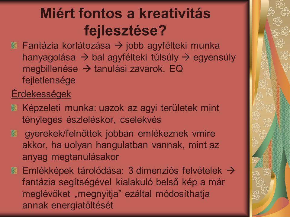 Miért fontos a kreativitás fejlesztése.