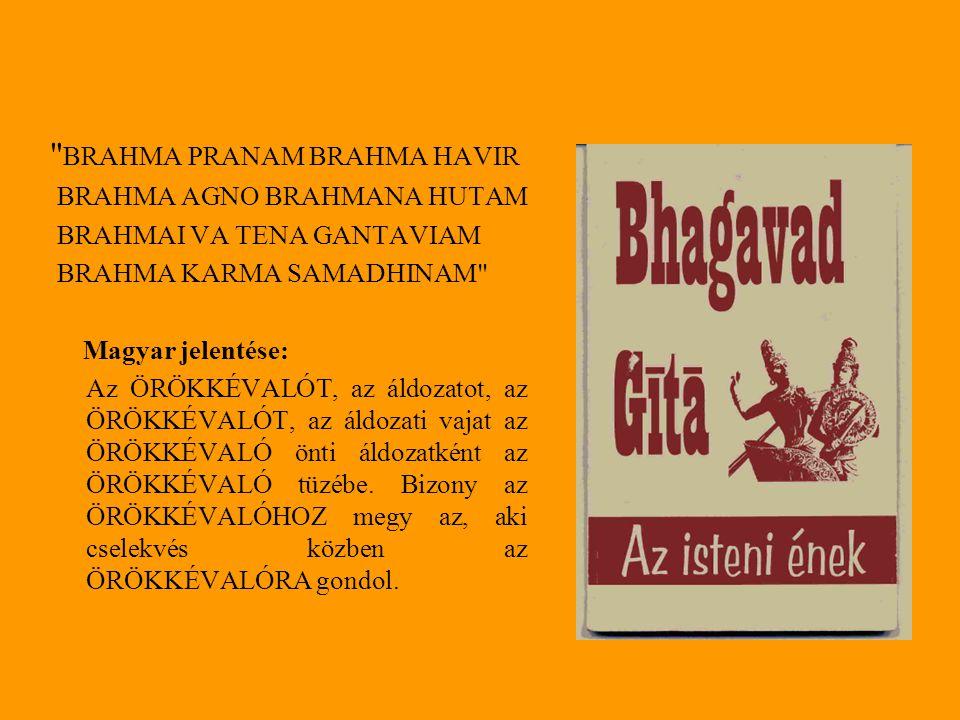 Hathapradipika Szvátmáráma híres Hathapradipikája (Digambarji-Raghunathashastri, 1970) az étkezésről így szól: Mértékletes étkezésnek azt nevezik, amikor az igen lágy és édes ételből egynegyedrészt meghagynak, és Sivának ajánlják fel. (A Hatha- jóga lámpása c., Terebess kiadó) A mitáhára az, ha kellemes, lágy és felajánlott az étel, és ha gyomrunk egynegyede üres marad... (I.