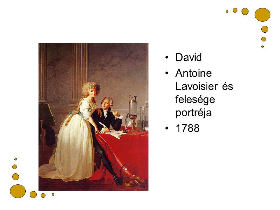 David Antoine Lavoisier és felesége portréja 1788