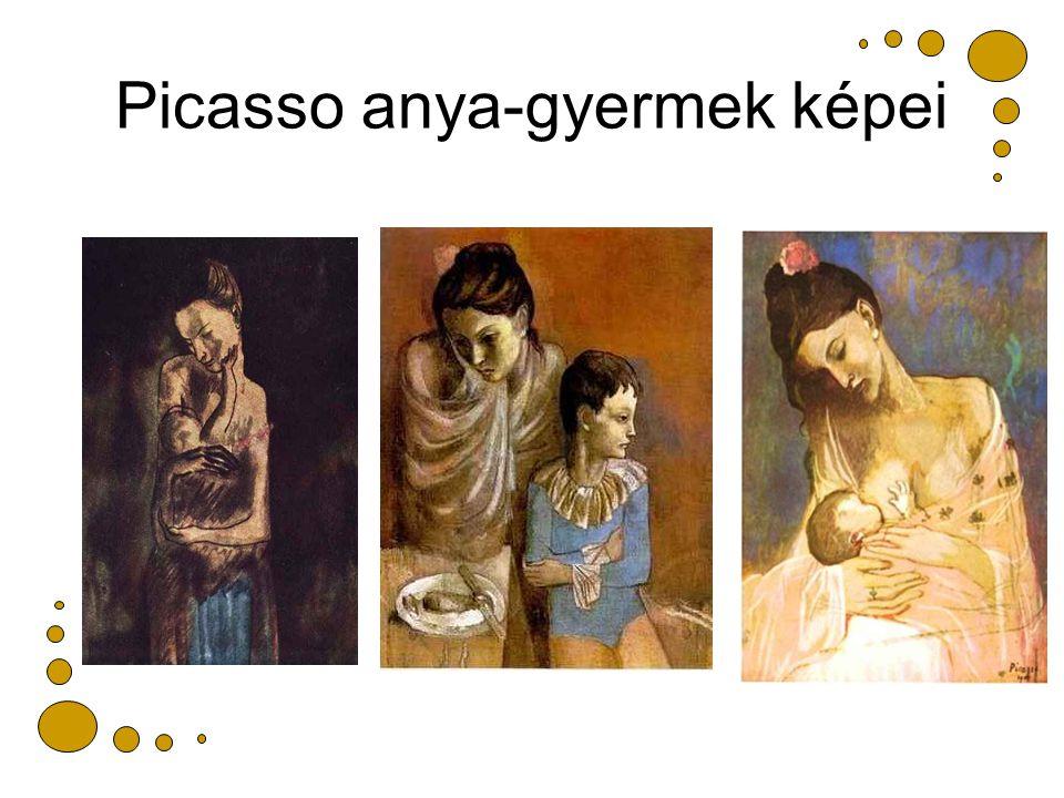 Picasso anya-gyermek képei
