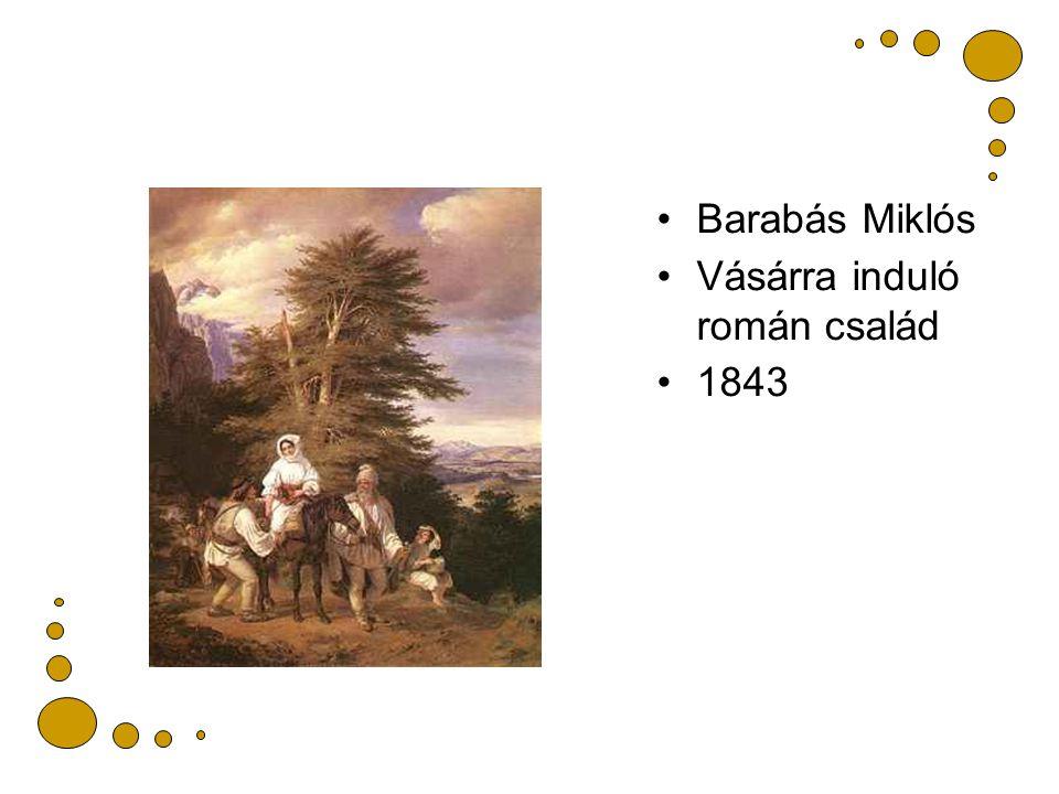 Barabás Miklós Vásárra induló román család 1843