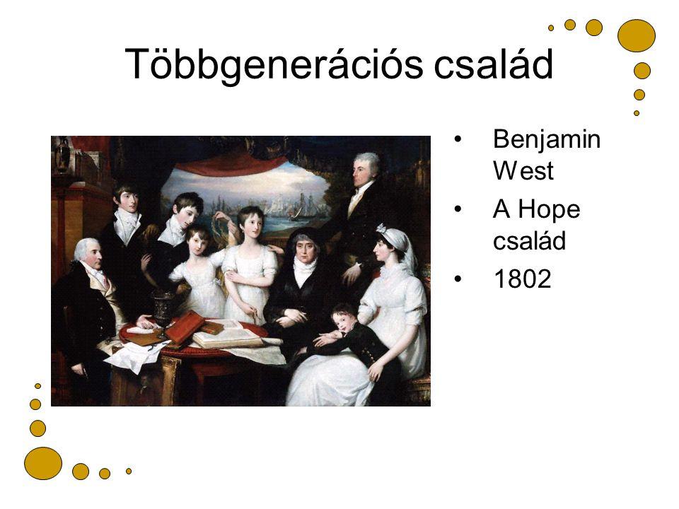 Többgenerációs család Benjamin West A Hope család 1802