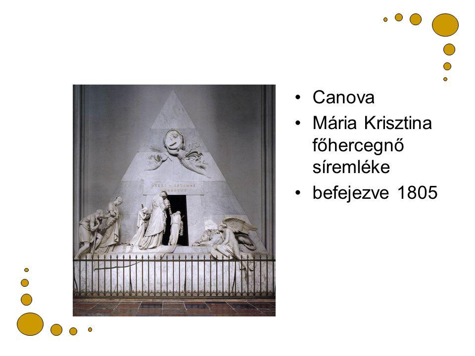 Canova Mária Krisztina főhercegnő síremléke befejezve 1805