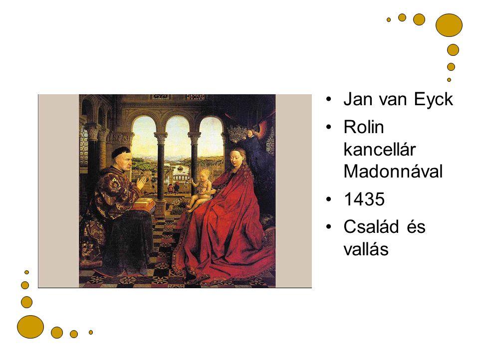 Jan van Eyck Rolin kancellár Madonnával 1435 Család és vallás