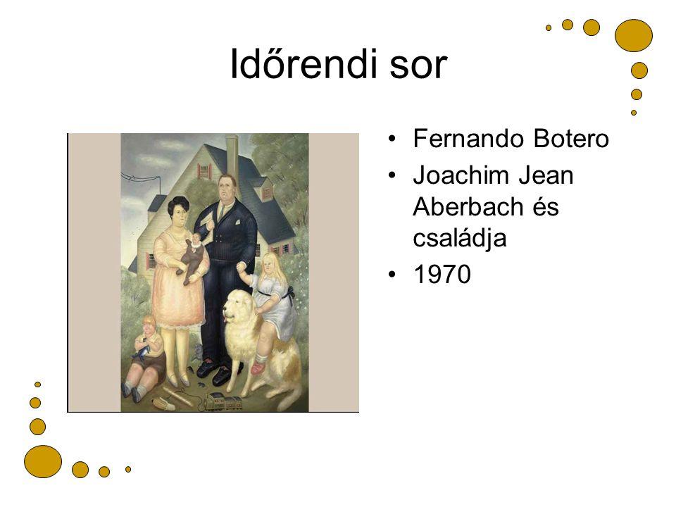 Időrendi sor Fernando Botero Joachim Jean Aberbach és családja 1970