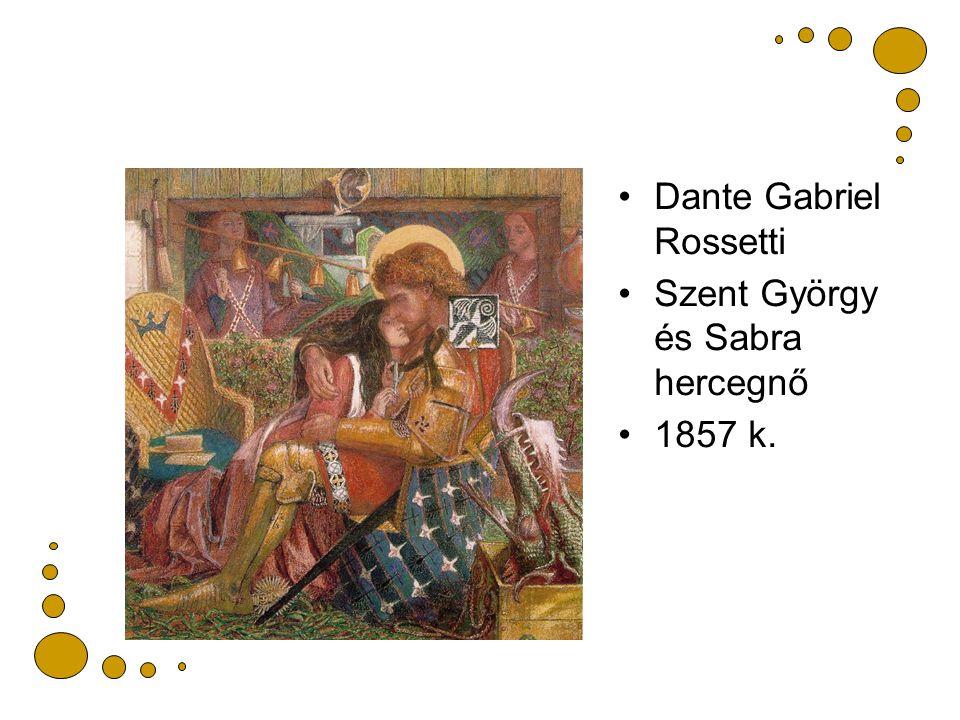 Dante Gabriel Rossetti Szent György és Sabra hercegnő 1857 k.