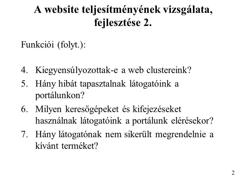 A website teljesítményének vizsgálata, fejlesztése 2.